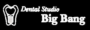 デンタルスタジオビッグバン 白ロゴ